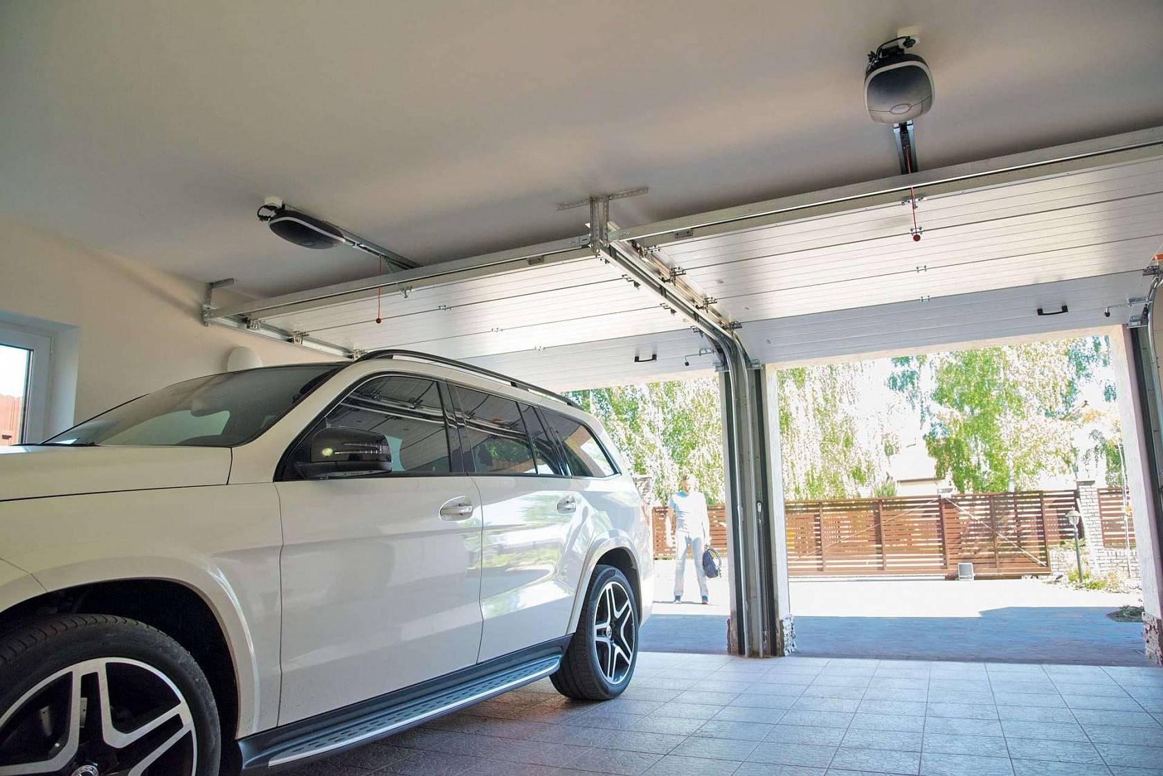 расчет размеров проема для гаражных ворот